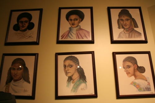 Hairstyles from different provinces in Ethiopia.